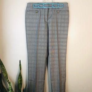 Anne Klein Gray Crosshatch Trousers